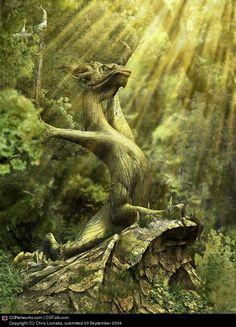 CGTalk - Wood Dragon, Chris Lomaka (3D)
