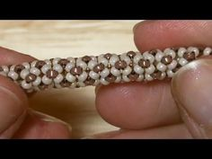 Tubular beadwork (Chenille Stitch): a simple idea for a tubular beadwork | Beaded Jewelry