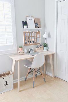 8 Endless ideas: Minimalist Home Small Tiny House minimalist bedroom neutral benches.Minimalist Home Colour Woods minimalist bedroom color shelves.Minimalist Bedroom How To Beds. Home Office Design, Home Office Decor, Office Designs, Decorating Office Desks, Bed Designs, Corner Designs, At Home Decor, Creative Office Decor, Table Designs