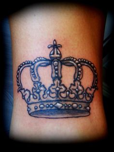Crown Tattoo - pink instead of white