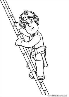 ausmalbild feuerwehrmann sam - feuerwehrmann sam | feuerwehrmann sam | ausmalbilder
