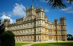 "Highclere Castle, home to the Carnarvon family since 1679; present day castle built in the mid-nineteenth century. Setting for PBS Masterpiece ""Downton Abbey""."