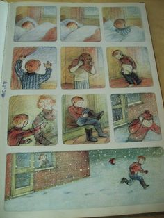 """Wow ~ It's Snowing!"" From The snowman by Raymond Briggs."