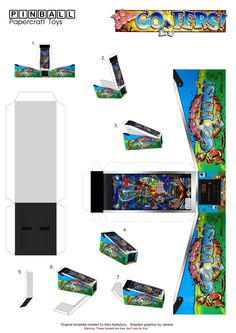 Pinball Papercraft Toys Williams 1997. Advice: Print your models on A4 photo paper 240g to make the table more resistant.