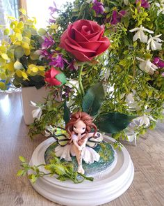 """Mi piace"": 789, commenti: 10 - Petite Maria Tortorici (@lapetitedeco) su Instagram: ""Other rose whit fairy #polyerclaykawaii #polymercalyfairy  #polymerclay  #roses  #nature #kawaii…"""