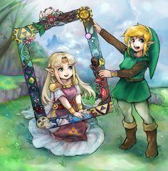 The Legend of Zelda: A Link Between Worlds, Link and Princess Zelda / 「神トラ」/「ぽぴーさん@ついったー」のイラスト [pixiv]