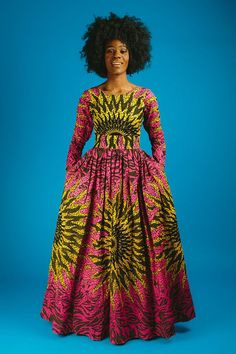 The complete pictures of latest ankara long gown styles of 2018 you've been searching for. These long ankara gown styles of 2018 are beautiful African Dresses For Women, African Attire, African Wear, African Fashion Dresses, Fashion Outfits, Fashion Pics, African Style, African Beauty, Fashion Styles