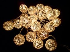 20pcs White Handmade Rattan Balls String Lights Fairy Party Patio Decor Party. $11.90, via Etsy.