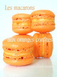 Macarons aux oranges confites - www.puregourmandise.com