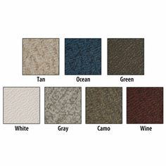 http://www.boatpartsandsupplies.com/boatfloorcoveringoptions.php has some info on the various types of boat flooring.