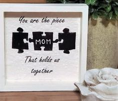DIY MOTHER'S DAY GIFT INSPO – Decorate & More with Tip Mothers Quotes To Children, Mothers Day Quotes, Puzzle Piece Crafts, Puzzle Pieces, Son Quotes, Child Quotes, Daughter Quotes, Family Quotes, Diy Crafts For Gifts