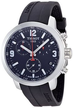 Herren armbanduhr sport chronograph kautschuk schwarz ch2573