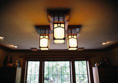 Arts and Crafts light fixtures by Audel Davis, of Berkeley, California | Craftsman | Bungalow | Hammered Copper