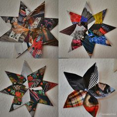 Sterne aus Katalogseiten / Stars made of catalogue pages