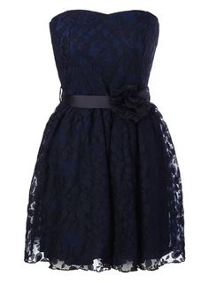 Cute Bride's maid dress in navy, Very cute love they style but with straps of side strap?