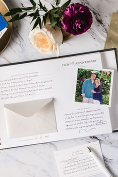 Marriage is a beautiful journey! Savor every moment and relive it with The Best is Yet To Come Anniversary Book. With intentional spaces and prompts to add onto your love story with each passing anniversary, The Art of Etiquette invites you to bring the magic and joy of your wedding day into your everyday! #weddingkeepsakes #weddingmemories #weddinganniversary