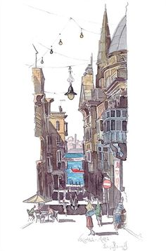 Liam O'Farrell - Architecture & reportage illustrator, Book Covers, Annual Reports Illustrator