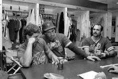 Lenny Dykstra, Gary Carter and Howard Johnson. Circa 1986.