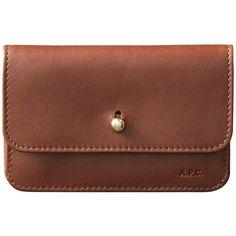 Collar-button wallet - NUT BROWN - A.P.C. WOMAN