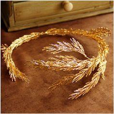 2016 Fairy Crown Headpiece Baroque crowns gold leaf headband hair jewelry…