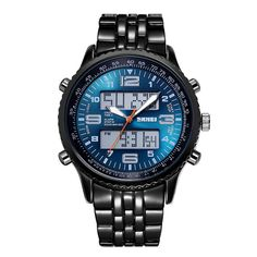SKMEI Mens Quartz Digital Watches Military Muilt-Function LED Fashion Wristwatch #SKMEI #Military