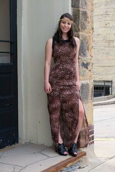 Leopard Maxi, Handmade Designer Beaded Headband, Black Faux Leather Booties - from Bobbi Jo's Boutique
