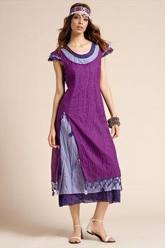 Trend: Etnik Esintiler - Fuşya Elbise 2093 %38 indirimle 129,99TL ile Trendyol da
