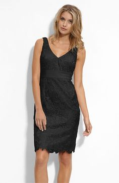 Adrianna Papell V-Neck Lace Sheath Dress available at Nordstrom