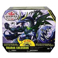 Bakugan fans will love our Bakugan Dharak Colossus! Multiple Bakugan and electronic Bakugan traps combine to form one massive monster! The Bakugan Bakugan Dharak Colossus includes