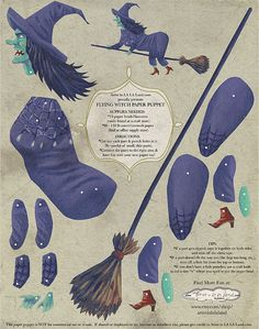 Articulated Witch Puppet by all things paper, via Flickr