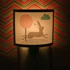 Henry the Hare rabbit bunny Elegantly Cute Night Light Nursery Bathroom hallway Bedroom GET IT nightlight Nite Lite