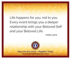 Ande Lyons is one of our featured guests at the Goddess Talk Sessions. Join us! www.goddesstalksessions.com