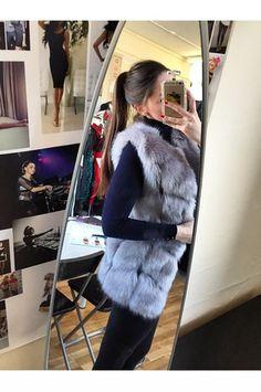 Soft Grey Fur Vest #FurVest #Vests #FauxFur #Grey #StyleInspiration www.ustrendy.com #USTrendy
