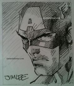 Jim Lee Captain America sketch