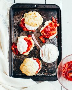 Strawberry Shortcakes with Easy Buttermilk Drop Buscuits