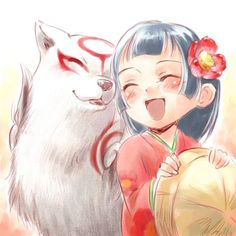 Tags: Anime, Fanart, Okami, Amaterasu, Capcom