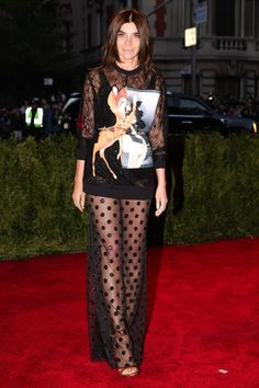 Carine Roitfeld in Givenchy Fall 2013-2014 @ MET GALA
