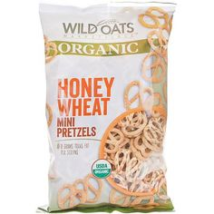 Wild Oats Marketplace Organic Honey Wheat Mini Pretzels are perfect for mini mouths craving a delicious packed lunch!