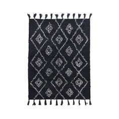 Is there anything better than stepping out onto a comfortable, warm and soft rug after a night's sleep? House Doctor has created House Doctor, Green Cushion Covers, Green Cushions, Black Rug, White Rug, Color Black, Black White, House Ornaments, Metal Mirror