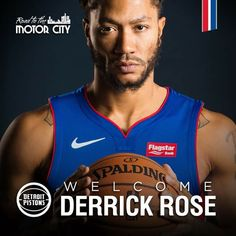 Image may contain: one or more people and text Nba Basketball Teams, Derrick Rose, Detroit Pistons, Tank Man, Photo And Video, Sayings, Music, People, Mens Tops
