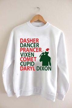 daryl dixon christmas Unisex Sweatshirts
