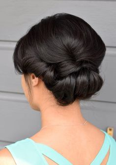 French Twist Wedding Updo Hairstyle Inspiration | Cherry Blossom Belle