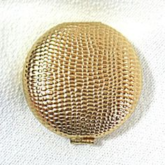 Revlon Pebbled Goldtone Touch Glow Powder Compact