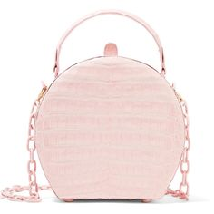 Nancy Gonzalez Crocodile shoulder bag (6.515 BRL) ❤ liked on Polyvore featuring bags, handbags, shoulder bags, bolsas, purses, pink, pastel pink, shoulder handbags, suede handbags and pink shoulder handbags