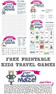 Printable Travel Games for Kids