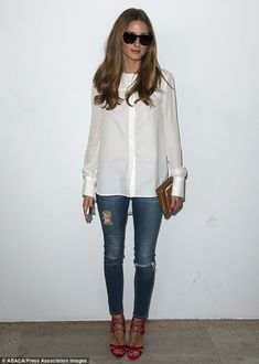 Olivia Palermo attends Veronique Leroy's Spring-Summer 2014 Ready-To-Wear collection show at the Palais de Tokyo in Paris, France