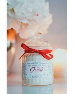 Bougie bonbonnière en cire de soja, parfumée Jus de fraise.
