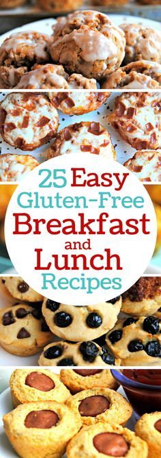25 super easy gluten-free breakfast and lunch recipes. Perfect grab and go recipes for busy families. Back to school favorite gluten-free recipes.