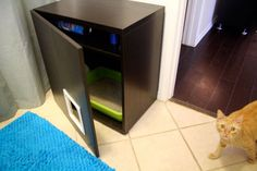 A while back we featured this cool Ikea-hacked litter box slash storage bench. If youu0026 looking for a litter box solution that looks just as nifty but has ... & Ikea hack: a kitty litter box with an intermediate