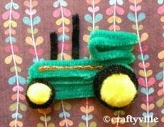Love john deere? You'll love these cute john deere crafts. How to make a john deere tractor with pipe cleaners and pompoms. Choose from john deer cross stitch patterns, john deere plastic canvas patterns, john deere crochet patterns, john deere printables and more.